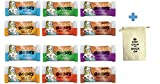 Bobo's Oat Bars All Natural, Gluten Free 6 Flavor Variety, 2 of Each Flavor ( Original ,Coconut ,Peanut Butter ,Chocolate Chip ,Cranberry Orange ,Cinnamon Raisin ) 3 oz Bars, Pack of 12