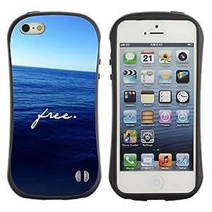 Suave TPU GEL Carcasa Funda Silicona Blando Estuche Caso de protección (para) Apple Iphone 5 / 5S / CECELL Phone case / / free ocean motivational deep blue sea /
