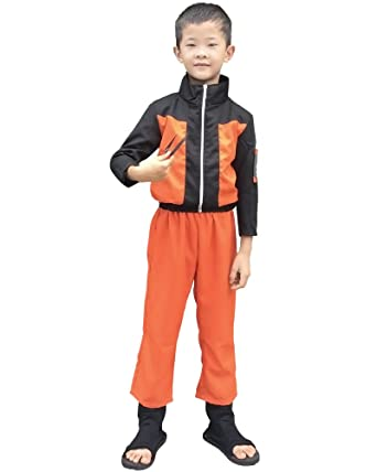 Miccostumes Boyu0027s Naruto Uzumaki Kids Cosplay Costume ...  sc 1 st  Amazon.com : naruto costums  - Germanpascual.Com
