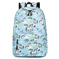 PERTUS Cute Lightweight Unicorn Backpacks Girls School Bags Kids Bookbags