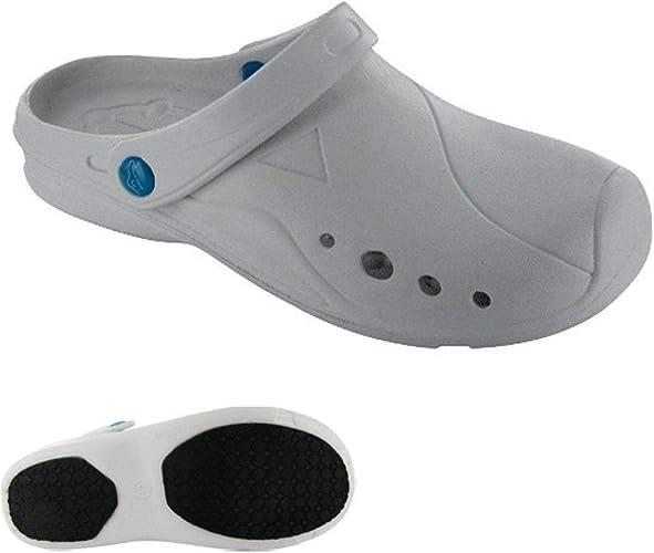 Chaussure infirmière Hopital Gris avec Bride a:
