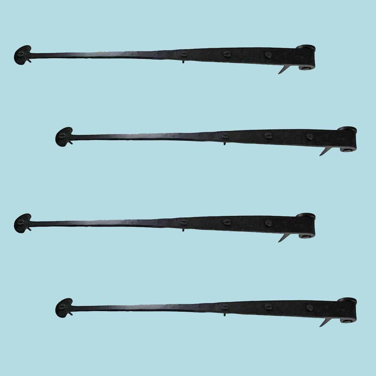 Renovators Supply Strap Hinge Black Iron 16 1//4 Inch