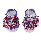 AMA(TM) Baby Toddler Infant Girls Handmade Barefoot Sock Sandals Flower Barefoot Toe Blooms Shoes