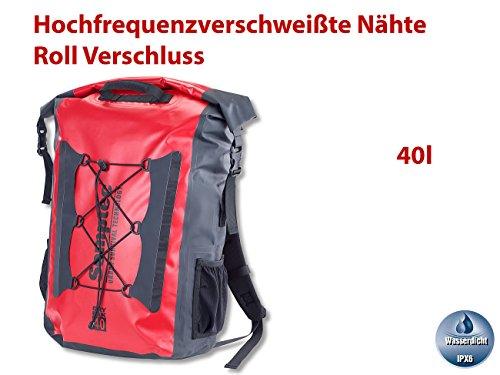 Semptec Urban Survival Technology Drybag: Wasserdichter Trekking-Rucksack aus LKW-Plane, 40 Liter, IPX6 (Wasserdiche Trekking Rucksäcke aus LKW Plane)