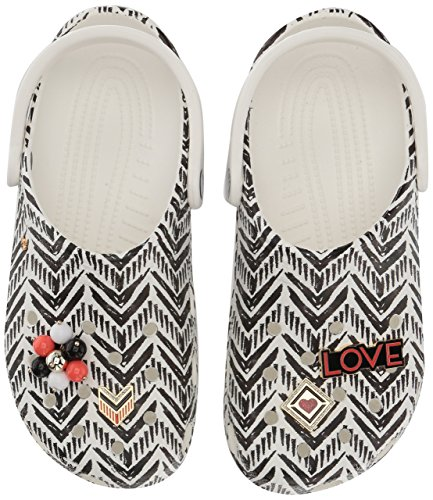 Crocs Women's Drew Barrymore Classic Clog, Chevron, 9 US Men/ 11 US Women M US by Crocs (Image #5)