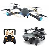 Beyondsky Foldable RC Drone XT-1 Quadcopter WIFI FPV Altitude Hold Gravity Sensor AR Game Mode 6-Axis 2.4Ghz Selfie Drone with 720P Camera Live Video (XT-1)