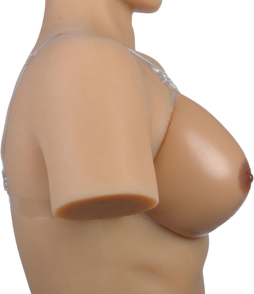 Rosie Crossdresser Transgender Silicone Fake Breast Bra Strap False Boobs Front Closure Bust Enhancer