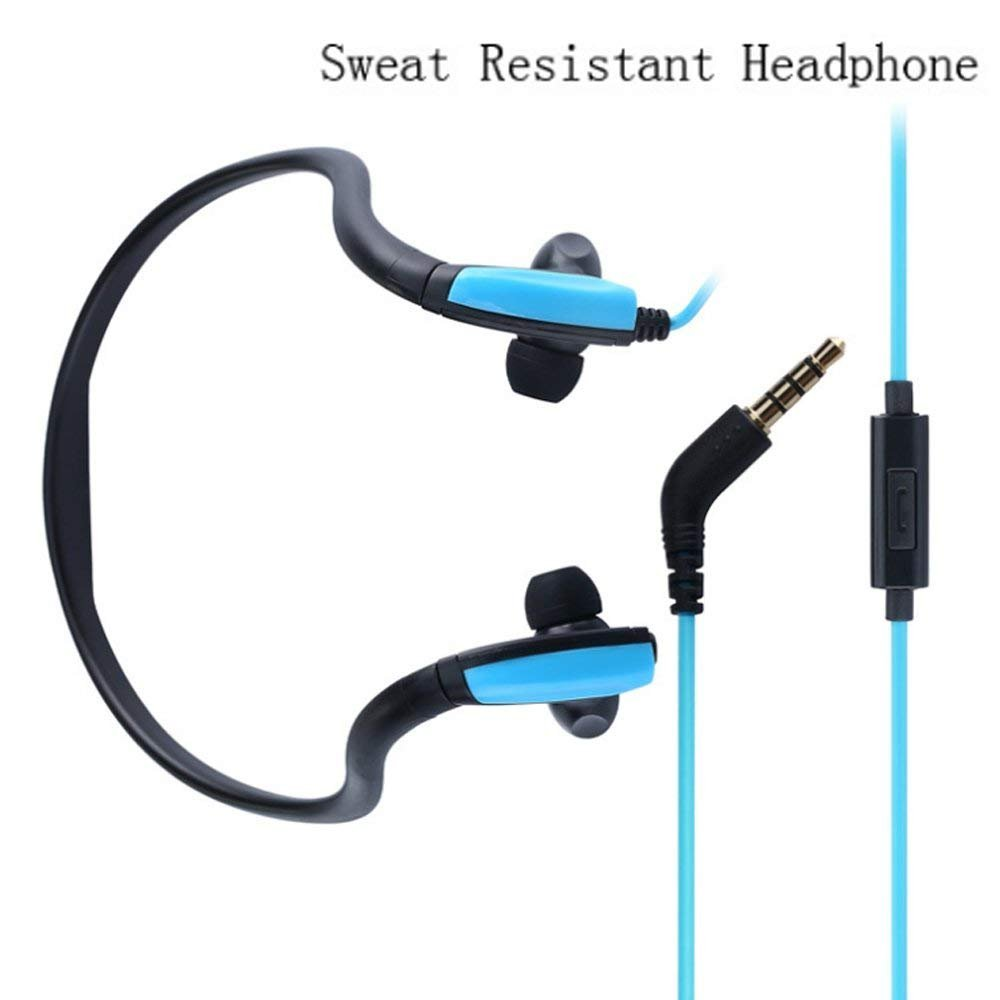 Earphones for iPhone 8 Plus,Businda In-Ear Headset Adjustable Sweatproof with Mic for iPhone 6/7 Plus iPad iPod Sumsang Tablet,Blue