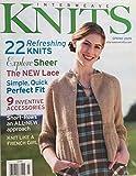 INTERWEAVE KNITS magazine Spring 2009 (Michelle Vitale Loughlin is Artist Spotlight, Knitting Patterns, Knit a Silk Cocoon Cardigan, Millefiori Cardigan, Petal Halter, Rib Cardigan, Shawl, Duffel Bag, Sculptured Lace Scarf, Tunic)