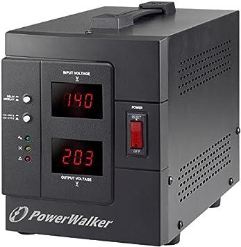PowerWalker AVR 1500/SIV - Regulador de Voltaje (230 V, 50/60 Hz ...