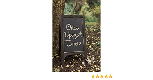 Amazon.com: Large 31in. Wood Framed Standing Chalkboard Easel (Two ...