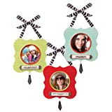Grasslands Road Fabulous Chris Miss Photo Frame Ornament, 2 by 2-Inch, Set of 6