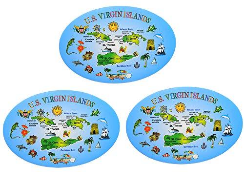 (3 PACK - US VIRGIN ISLAND Bottle Opener Magnet - US VIRGIN ISLAND Bottle Opener and Magnet SOUVENIR)