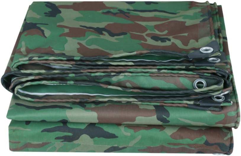 Camuflaje Heavy duty Lona, Multi propósito Toldo plana rain, Espesar Impermeable Refugio de la tienda Funda de cobertura plana Cubierta de la piscina Protectores del viento-4.5 * 5m