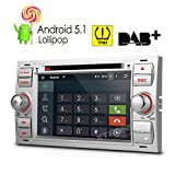 XTRONS Quad Core 7'' Android 5.1 Lollipop Car CD DVD GPS 2 DIN Stereo Radio Tire Pressure Monitoring for Ford Focus Fusion Mondeo