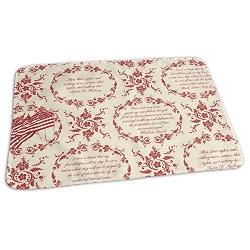 Civil Rights Toile Baby Portable Reusable Changing Pad Mat 19.7x27.5 -
