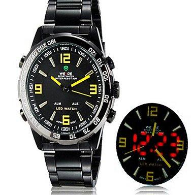 XKC-watches Relojes para Hombres, Weide 1009 Ronda Analógico Unisex& Reloj Digital DE 30