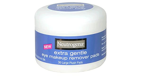 Neutrogena Eye Makeup Remover Large Plush Pads, Extra Gentle, 30 Count (Pack of 2) by Neutrogena: Amazon.es: Belleza