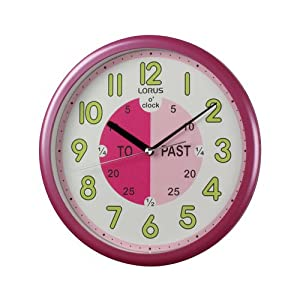 Lorus Time Teacher Wall Clock Pink Amazon Co Uk