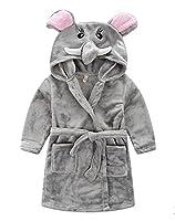 Taiycyxgan Little Girl's Coral Fleece Bathrobe Unisex Kids Robe Pajamas Sleepwear
