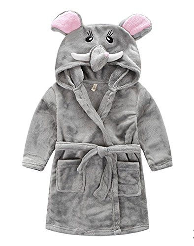 Taiycyxgan Little Girl's Coral Fleece Bathrobe Unisex Kids Robe Pajamas Sleepwear