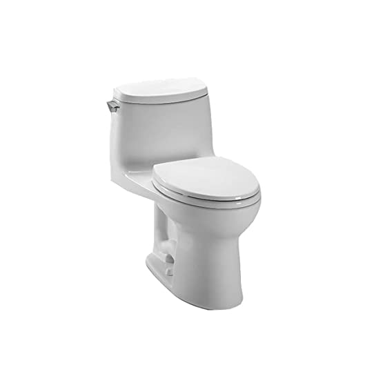 Toto MS604114CUFG01 UltraMax II 1G Onepiece Elongated Toilet With SanaGloss White