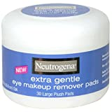 Makeup Remover Neutrogena Neutrogena Extra Gentle Eye Makeup Remover Pads, Sensitive Skin 30 Count (Pack of 2)