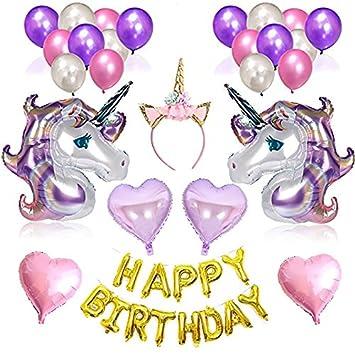 Geburtstag Party Dekoration Girlande Einhorn Luftballon Partyzubehor