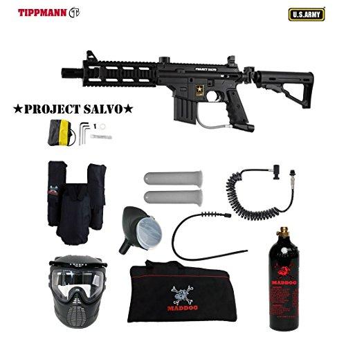 Custom Adjustable Sight Rail 98 (MAddog Tippmann U.S. Army Project Salvo Private Paintball Gun Package - Black)