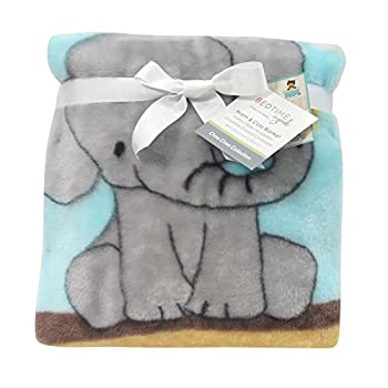 Bedtime Originals Choo Choo Warm and Cozy Blanket ( Elephant,Lion and brown bear)