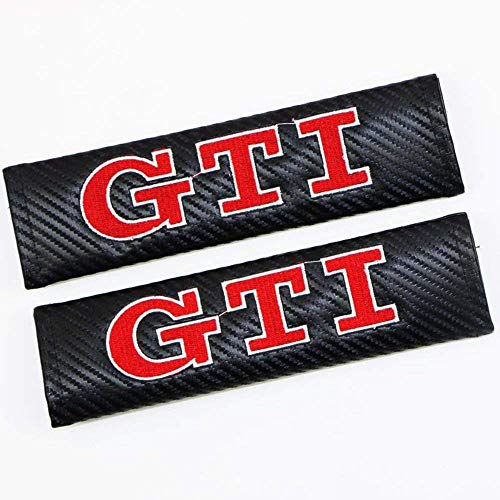 Altergo Seat Belt Covers for GTI Cars Embroidered Badge Adults and Children Shoulder Pad Opening Fiber 2 ()