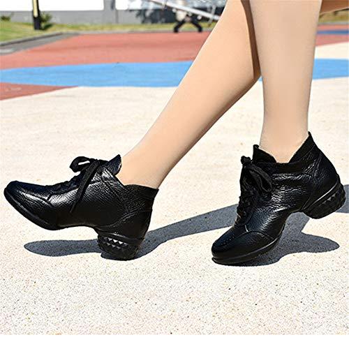 Shoes Size Shoes Soft 25 Hutt Adult Dance Black Latin Like 5cm 5cm Leather Women's Dance 22 FqZwTZaAB
