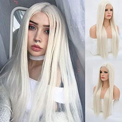 Blue Bird Platinum Blonde Synthetic Hair Lace Front Wigs For White Women Silk Straight Long Glueless Half Hand Tied Replacement Full Wig Heat Resistant For Daily Wear - 4032794 , B07DGQPN7S , 454_B07DGQPN7S , 42.99 , Blue-Bird-Platinum-Blonde-Synthetic-Hair-Lace-Front-Wigs-For-White-Women-Silk-Straight-Long-Glueless-Half-Hand-Tied-Replacement-Full-Wig-Heat-Resistant-For-Daily-Wear-454_B07DGQPN7S , usexpress.vn , Blu