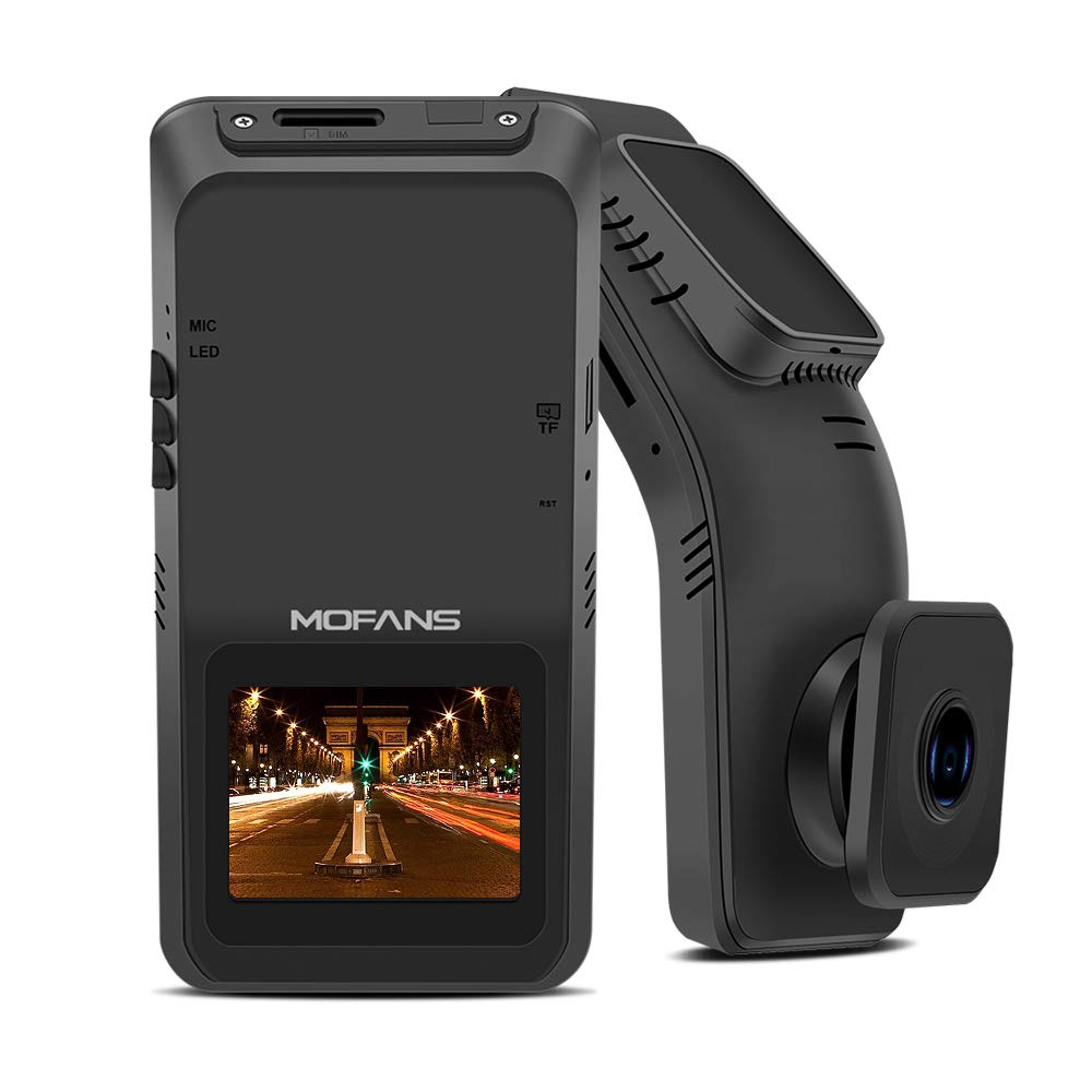 MOFANS Dash Cam Loop Recording and Clear Night Dashboard Camera Recorder with Full HD 1080P 170/° Wide Angle Lens 2 Inch Screen Car Dashboard Camera Recorder with WiFi Connection Emergency Lock WDR