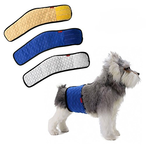 Mkouo Male Dog Belly Band Wraps Incontinency Nappies for Small and Medium...