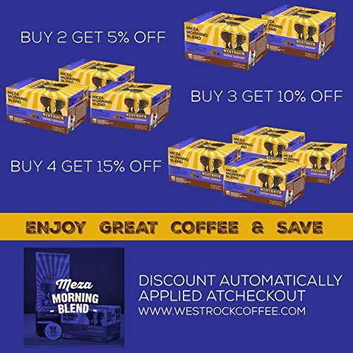 Westrock Coffee Company Meza Morning Blend Best Medium Roast Gourmet Single Serve Cup 80 Count by Westrock Coffee Company (Image #1)