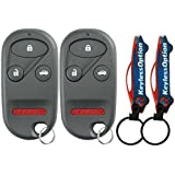 KeylessOption Keyless Entry Remote Control Car Key Fob Replacement for OUCG8D-344H-A (Pack of 2)