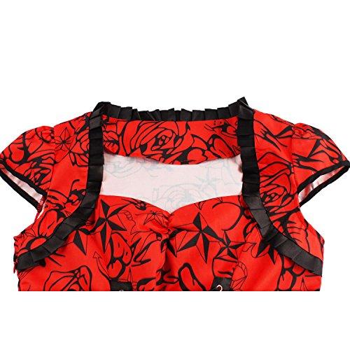 Rojo mujer para Vestido trapecio Dissa wYSqz1xx