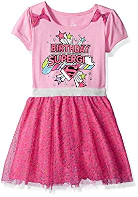 DC Comics Little Girls' Supergirl Birthday Dress