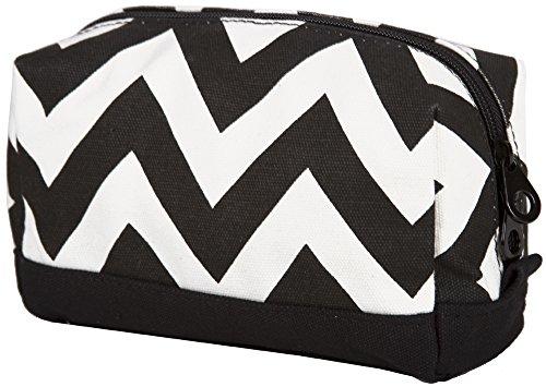luggage 3008 canvas cosmetic pouch chevron black