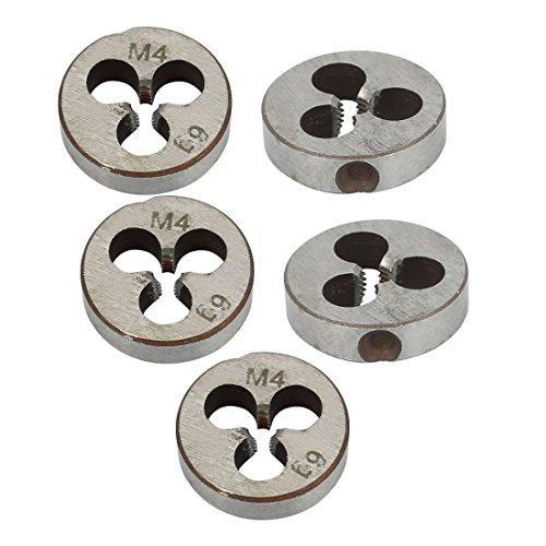 X-Dr Metal Coarse Thread Cutting Tool Round Die Gray M4x5mm 5pcs (5e160af1-a222-11e9-8d7c-4cedfbbbda4e)