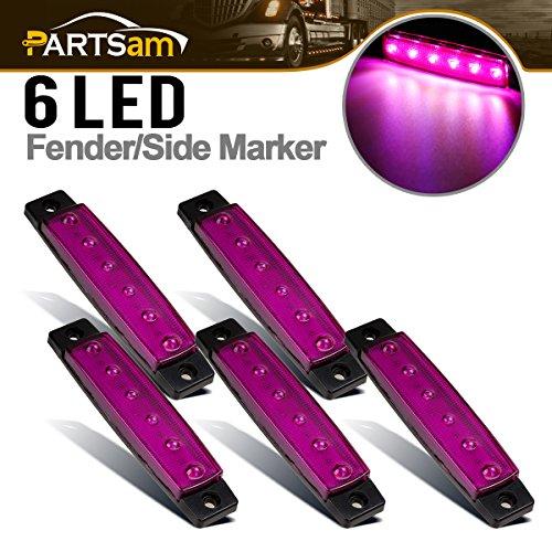 Purple Led Side Marker Light - Partsam 5x 3.8