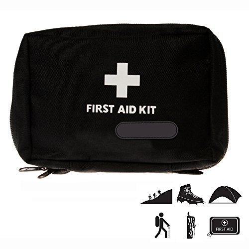 First Aid Bag, HamFire Small First Aid Empty Kit Bag First Responder Storage Bag for Outdoor Travelling Camping Sport Medical Emergency Survival (Black) by HamFire