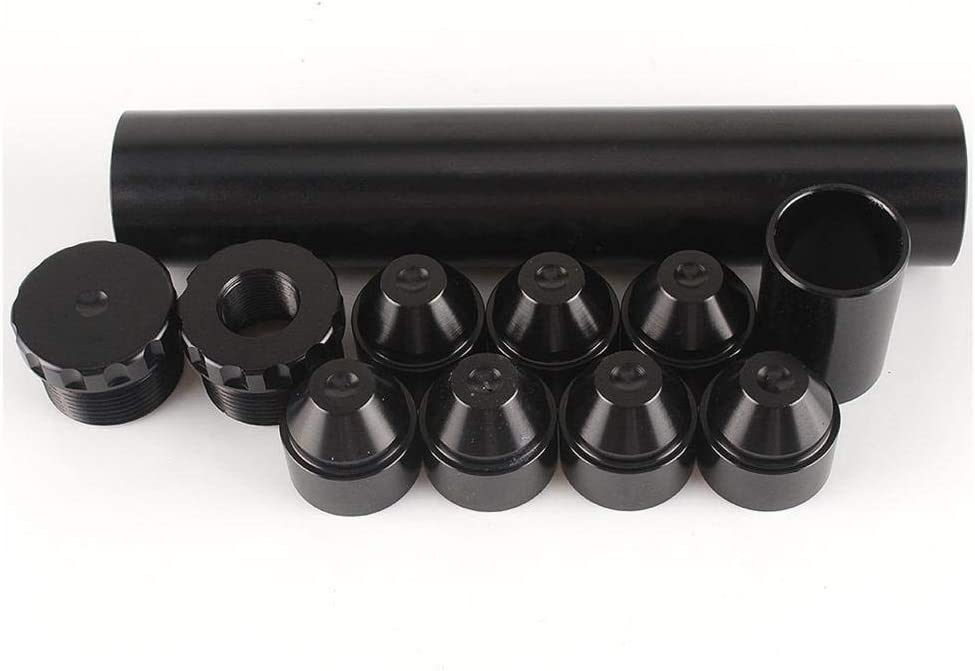 Schwarz balikha Aluminium 1//2-28 Auto Kraftstofffilter Fuel Oil Filter Kit F/ür NAPA 4003 WIX 24003
