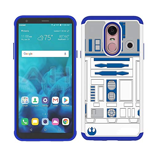 Stylo 4 Plus/LG Q Stylus Case - R2D2 Astromech Droid Robot Pattern Shock-Absorption Hard PC and Inner Silicone Hybrid Dual Layer Armor Defender Protective Case for LG Stylus 4 ()