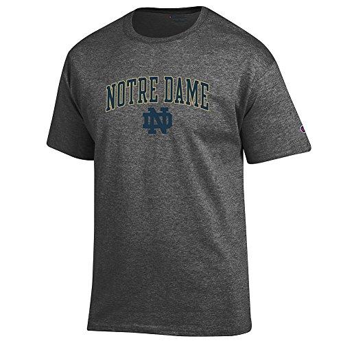 Elite Fan Shop Notre Dame Fighting Irish Tshirt Charcoal - L (Shirt Dame Notre)