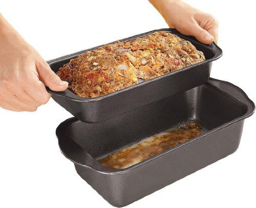 2 PIECE LOW FAT NON-STICK MEATLOAF PAN SET