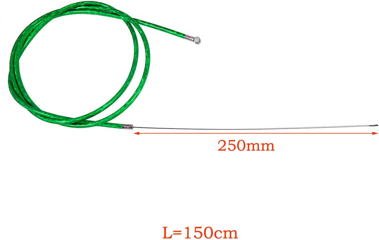 NAVARME Green Throttle Clutch Cable Line Clutch Cable Lock For 66cc 80cc Motorized Bike