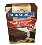 Ghirardelli Triple Chocolate Chip Brownie Mix, 120-Ounce