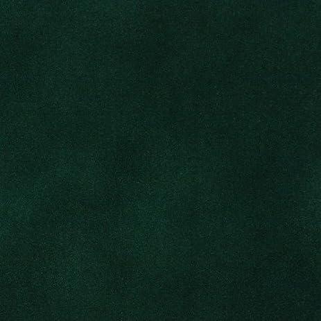 emerald dark green plain velvet upholstery fabric by the yard